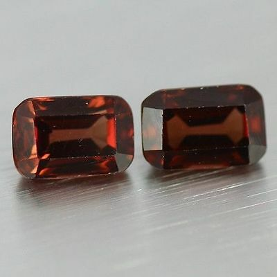 2.450 Cts Full Fire Natural Natural Earth Mine Red Zircon Loose Gemstone Pair