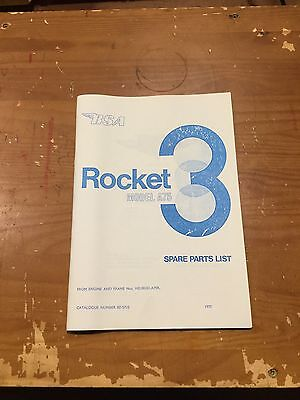 Bsa Rocket 3 A75 Parts List 1970 - 00-5710 [3-64]