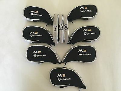 10 x Taylormade M2 Golf Club Iron Covers Zipped Head Cover 2017 Model Inc LW