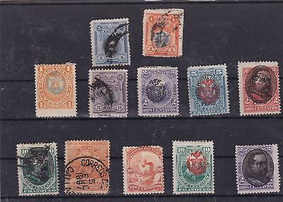 Peru Stamps On Stock Card Many Overprints Mounted Mint & Used Ref R773
