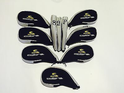 10 x Cobra Iron Covers Zipped Golf Club Head Covers NEW 2017 Stock  Inc LW