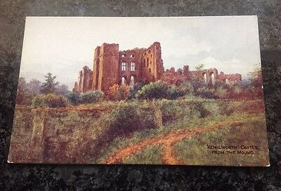 Old Postcard Of Kenilworth Castle From The Mound