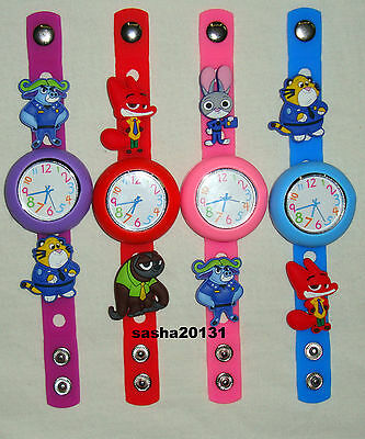 Zootopia Jibbitz Band Watch  & A Set Of 5 Charms, Brand New