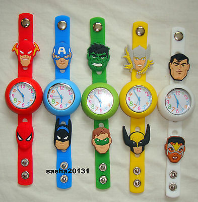 Avengers  Jibbitz Band Watch  & A Set Of 11 Shoe Charms, Brand New