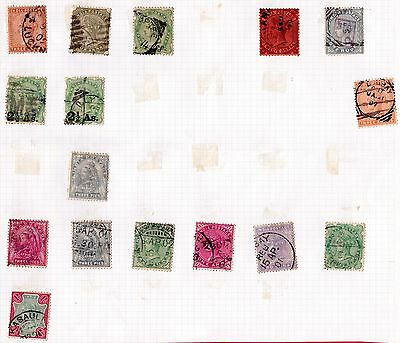 India Stamps. QV 1882+ Issues. Values to 1 Rupee. Used. #2574