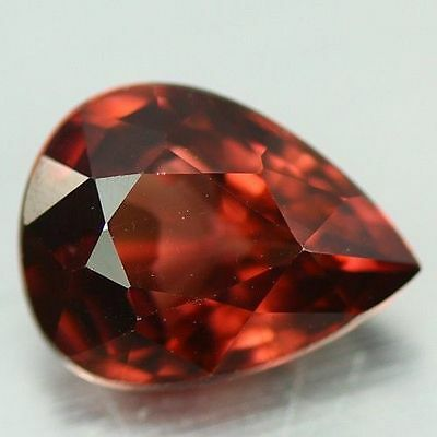 2.495 Cts Full Fire Natural Natural Earth Mine Red Zircon Loose Gemstone