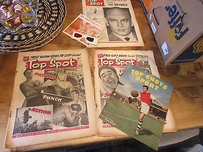 Top Spot Comic issue 1 , 2  1958 & 1959 yul brynner Special + free gifts