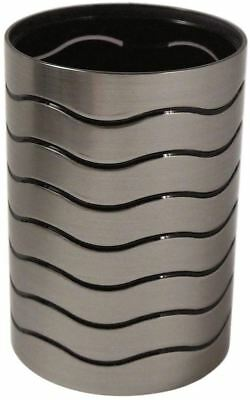 Blue Canyon Bathroom Ice Collection Tumbler Toothbrush Holder Silver / Black