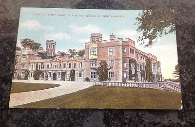 Old Postcard Of Castle Ashby, Seat Of The Marquess Of Northampton