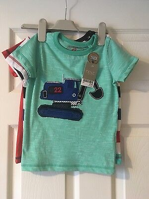 next boys 3 pack of tops bnwt age 18-24 months