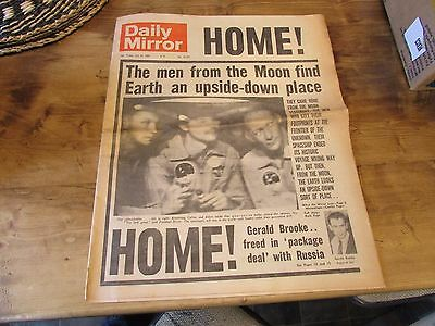 daily mirror Man home from  The Moon friday  July 25  1969 orignal