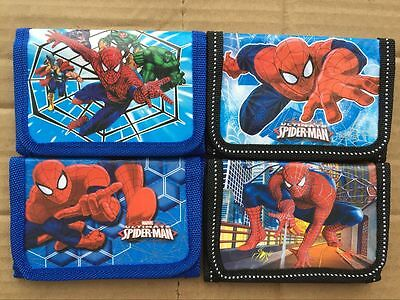 NEW STYLE! UK Seller Kids Spiderman Wallets Boys Spider Man Avengers Coin Bags