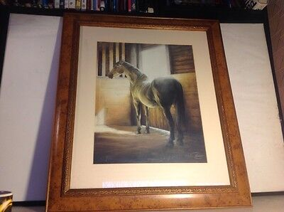 Morning Light Limited Edition Framed Horse Print. Signed Mike Burr 280/850.