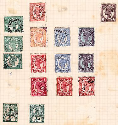 Australia Stamps. QV 1895-99 Queensland. Used. #2576