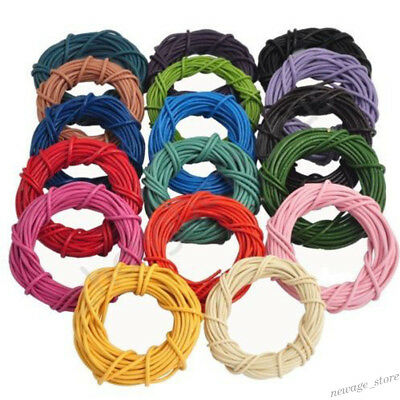 3M/10M Charms Leather Necklace Bracelet Rope String Cord Round Jewelry DIY 2mm