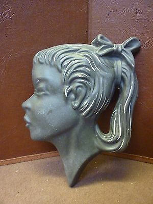 Original Vintage Plaster Lady Wall Plaque (3) Please See Others Listed