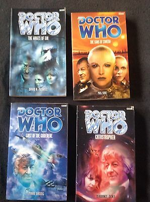4 x Doctor Who BBC Books 3rd Dr Novels - Jon Pertwee