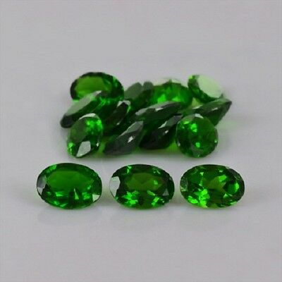3x4mm to 6x8mm Natural Chrome Diopside Faceted Oval Top Quality Loose Gemstone