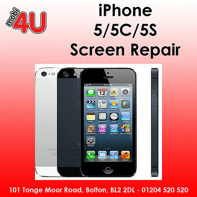 Apple iPhone 5/5C/5S GLASS DIGITIZER TOUCH SCREEN REPAIR REPLACEMENT SERVICE