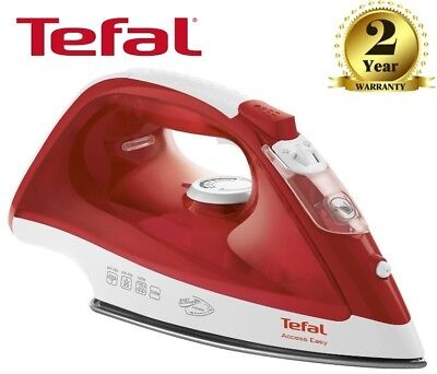 Tefal Access FV1533 Anti-Scale Ceramic Soleplate Steam Iron , 2100W , Red/White