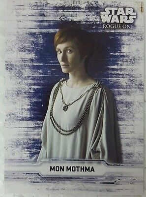 Star Wars ROGUE ONE Series 1 STICKER MON MOTHMA Topps 2016