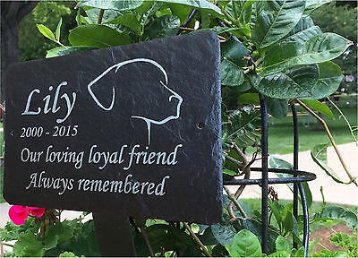 Slate Pet memorial Grave Marker - Made to Order Add Message 1st 4 Signs