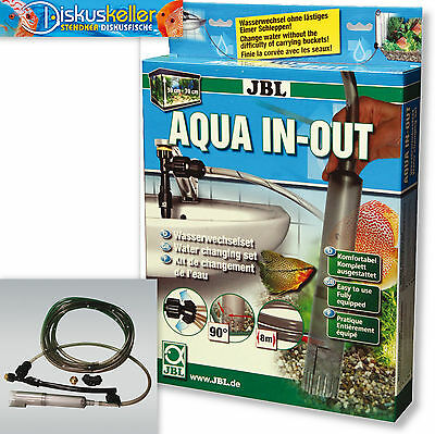 JBL Aqua In Out - Wasserwechsel Bodenreinigung Aquarium + Gratis Probe
