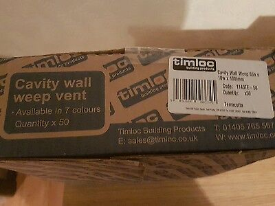 50 x Brick Tunnel Weep Vents Terracotta /Concealed Peep Ventilation Cavity Wall