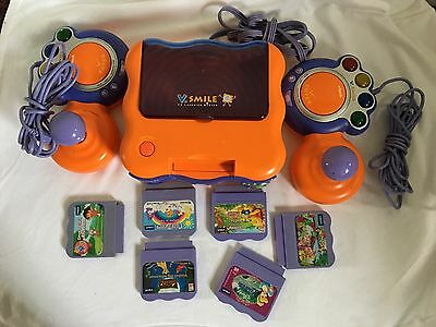 VTech V SMILE TV LEARNING SYSTEM W/2 Controllers, 6 Games