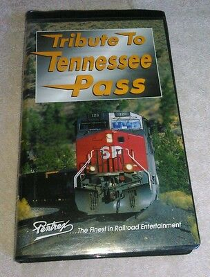 Tribute To Tennessee Pass VHS Pentrex 1997 Train Video Clamshell Case 100 Minute