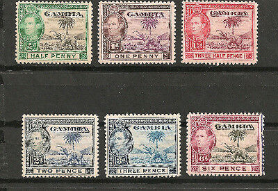 GAMBIA stamp 132-137 Mint LH Great Britain Africa George VI