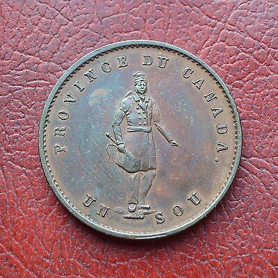 Lower Canada 1852 copper halfpenny