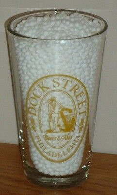 DOCK STREET Beers & Ales Philadelphia PA  beer glass 1 pt
