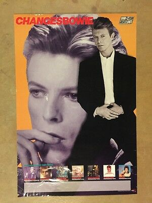 David Bowie - Changesbowie - Original Record Store Rykodisc Promo Poster - 1990