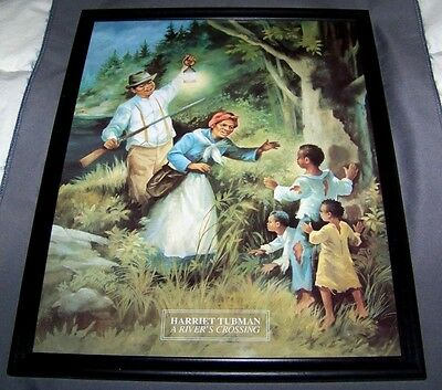 1996 Harriet Tubman A River's Crossing Lithograph Black Americana Framed