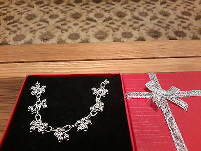 Brand new beautiful silver 925 stamped  beaded necklace and gift box