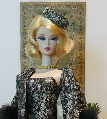 Black and Gold Vintage Reproduction Silkstone Barbie Outfit OOAK Arina fashions