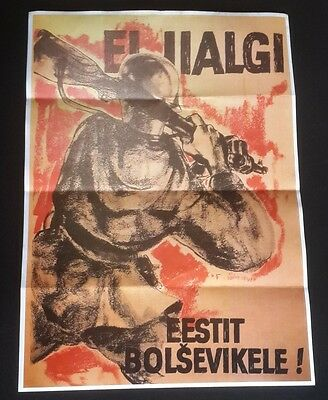 1942 WW2 NAZI AXIS GERMANY ARMY SOLDIER ANTI USA AMERICA  WAR Propaganda POSTER