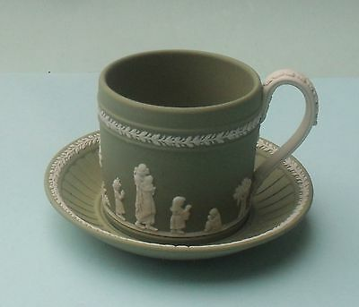 Unusual Wedgwood Green Jasper Cup And Saucer