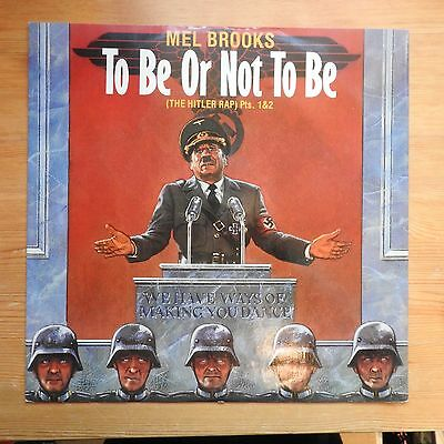 """Mel Brooks - To Be Or Not To Be Pts 1&2 12"""" single vinyl (1983) Ex/VG+"""