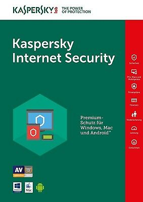Kaspersky Internet Security 2017 1PC/Gerät 1Jahr Vollversion Lizenz Key Download