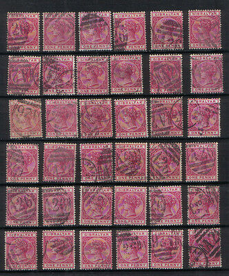Gibraltar Q Victoria 1898 1d red Thirty six used values