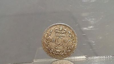 Victoria 1842 silver twopence good condition