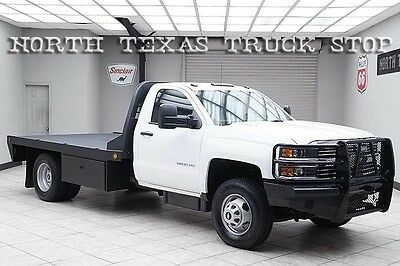 2015 Chevrolet Silverado 1500  2015 Chevy 3500HD Diesel 4x4 Dually Flat Bed Hauler Regular Cab Extended Wheel