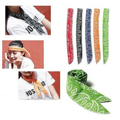 Colors Cooling Cool Tie Bandana Towel Wrap Cooler Neck Ice Scarf Body Headband