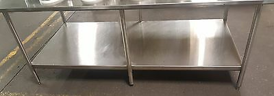 "John Boos & Co.Stainless Steel Work Prep Table 84"" x 42.5"" Commercial Kitchen"
