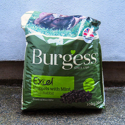 Burgess Excel Nuggets with Mint Adult Rabbit Food 10kg (-10%)