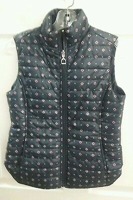 Ariat Reversible Quilted Vest - Blue, Red, White, Green - Stirrup Zip Small S