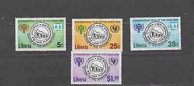 Liberia 1979 Year Of The Child Set Mint Never Hinged