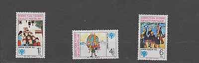 Cyprus Turkey Zone 1979 Year Of The Child Set Mint Never Hinged